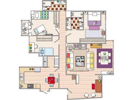 Planos de casas modelos y dise os de casas planos de - Distribucion piso 90 metros ...