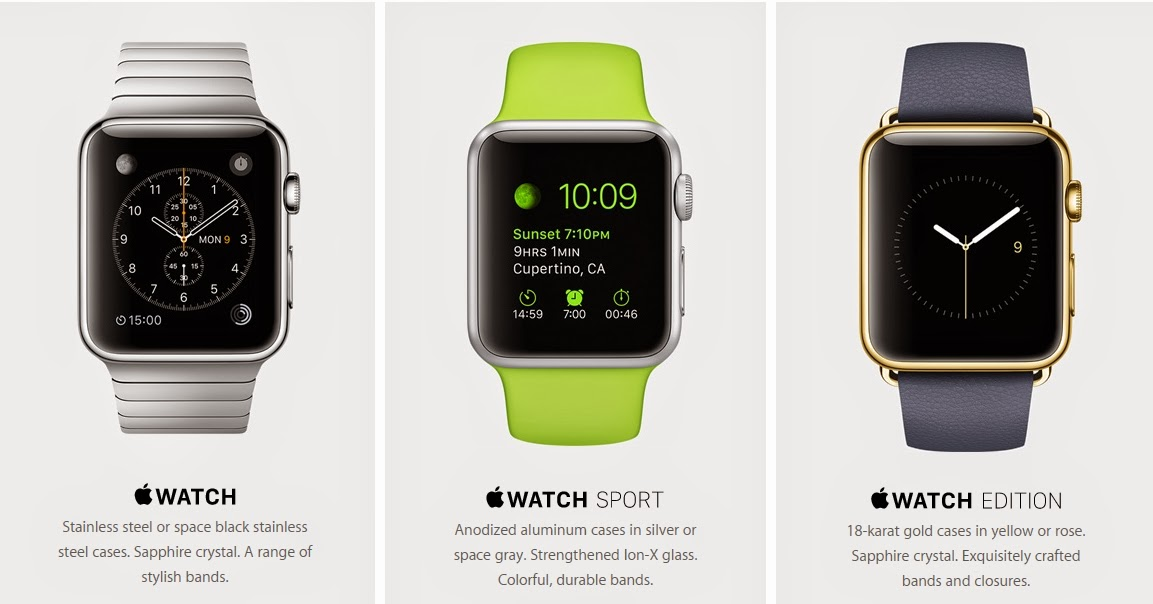 Three Different Apple Watch