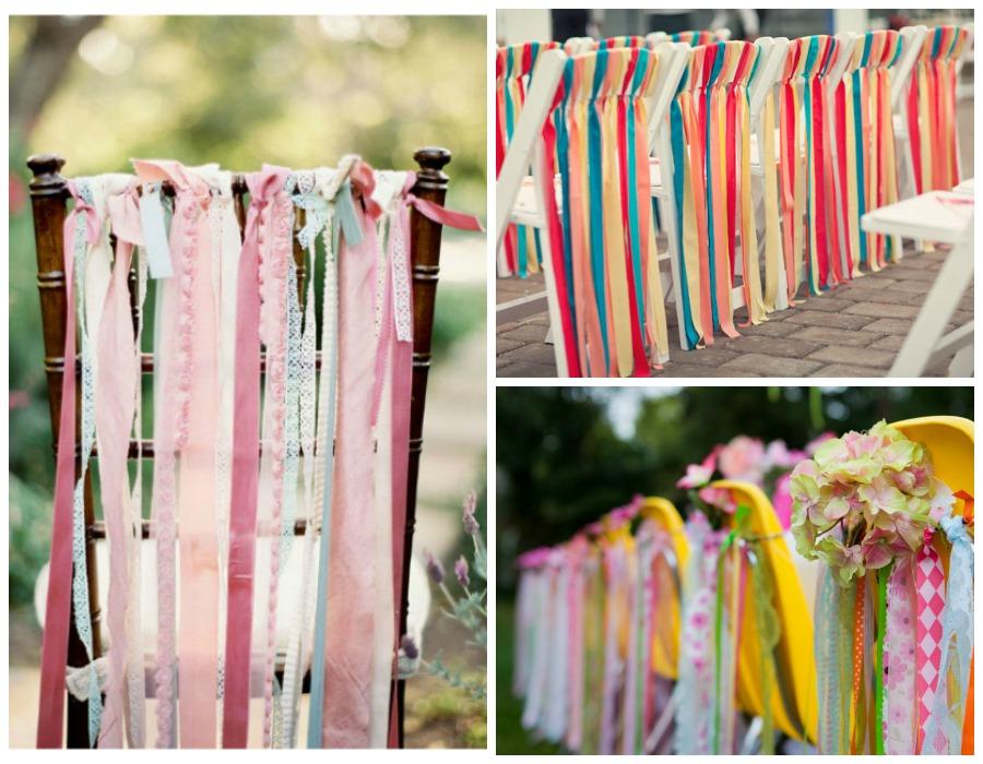 Decoraci n f cil decorar con telas las sillas para una boda - Telas para decorar ...