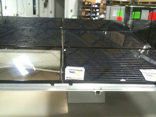 Ballasted ground mount solar PV, right side