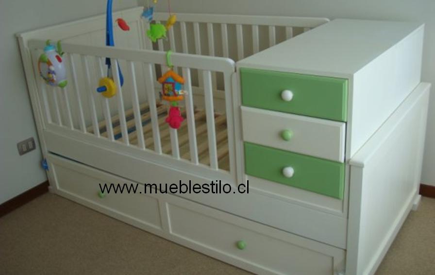 Bebe muebles detalles cuna funcional bebe - Cuna de madera para bebe ...