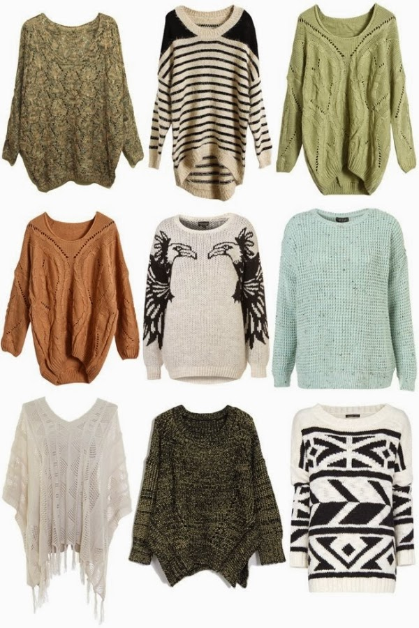 Complete sweater combination and collection for fall