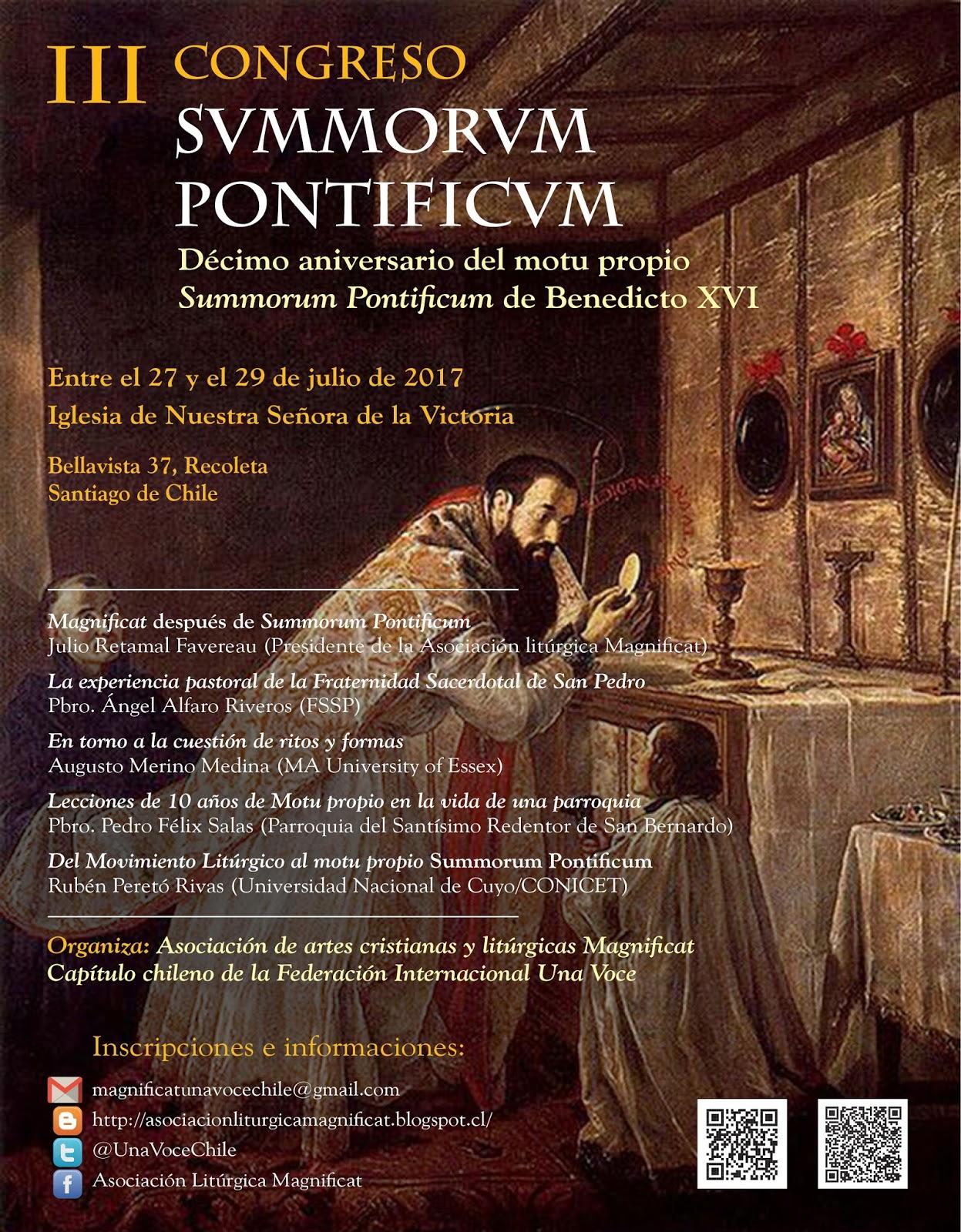Congreso Summorum Pontificum en Santiago de Chile