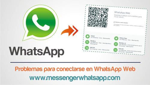 Problemas para conectarse en WhatsApp Web
