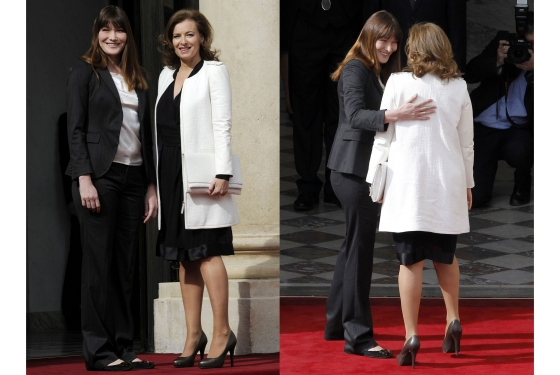 carla+bruni-incoming-premiere-dame-Valerie+Trierweiler-to-the-Eysee-Palace