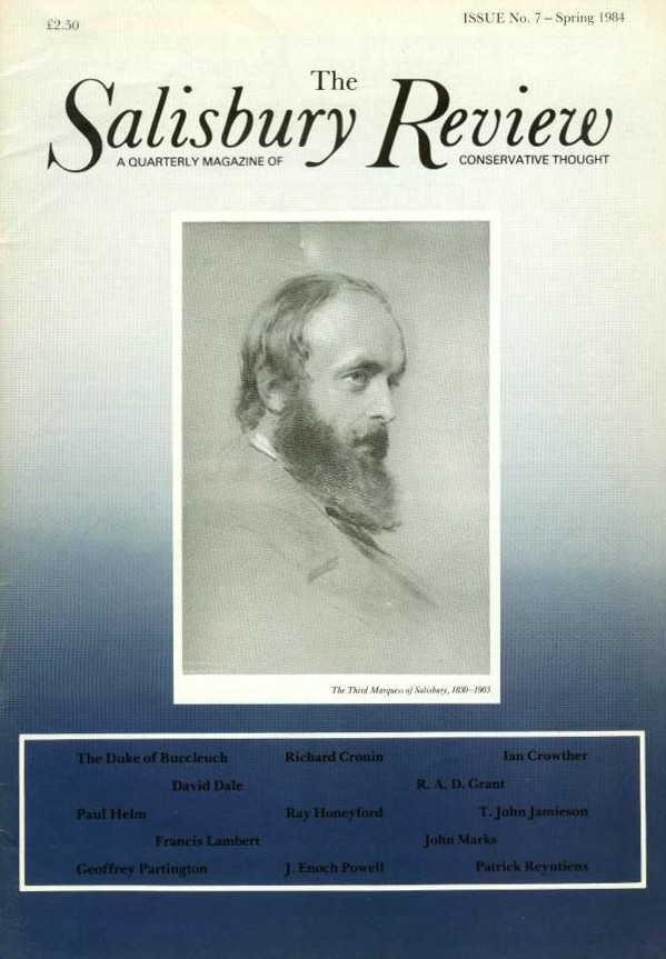 The Salisbury Review, Issue No. 7, Spring 1984