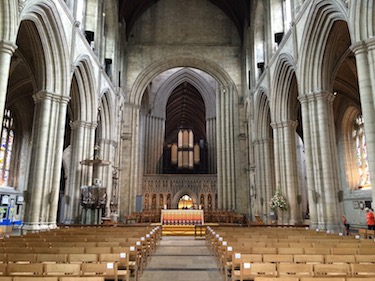 Chuck and Lori's Travel Blog - The Nave of Ripon Cathedral