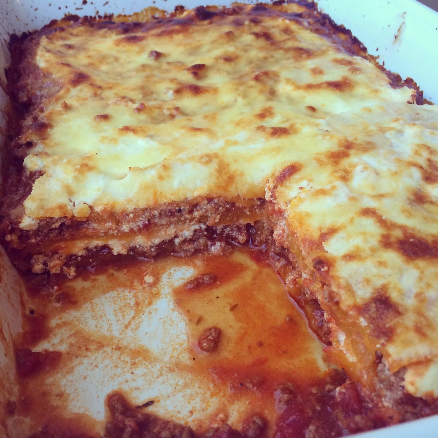 lasagnes courge bolognaise ricotta