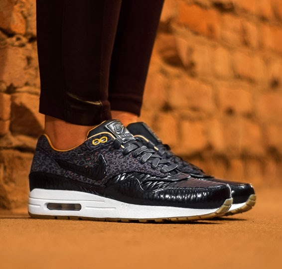 nike air max 1 fb woven black quilted leopard backpack