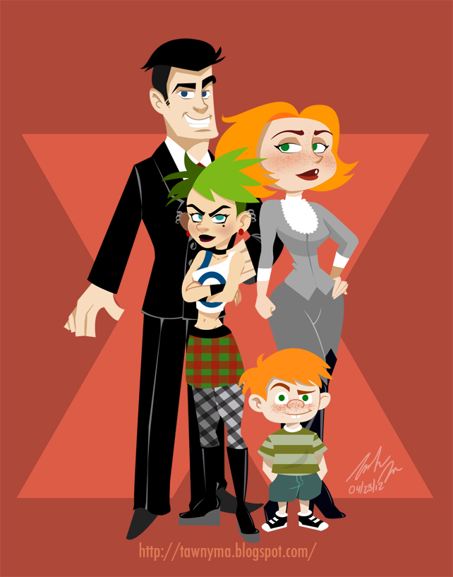 The Xs Family Hentai - Sex Cartoon Heroes on
