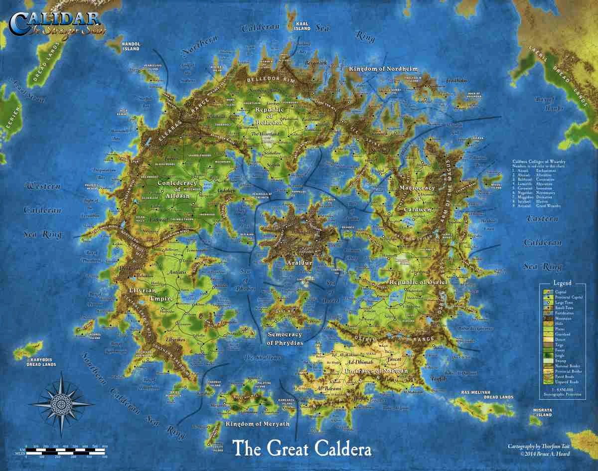Great Caldera Poster Map