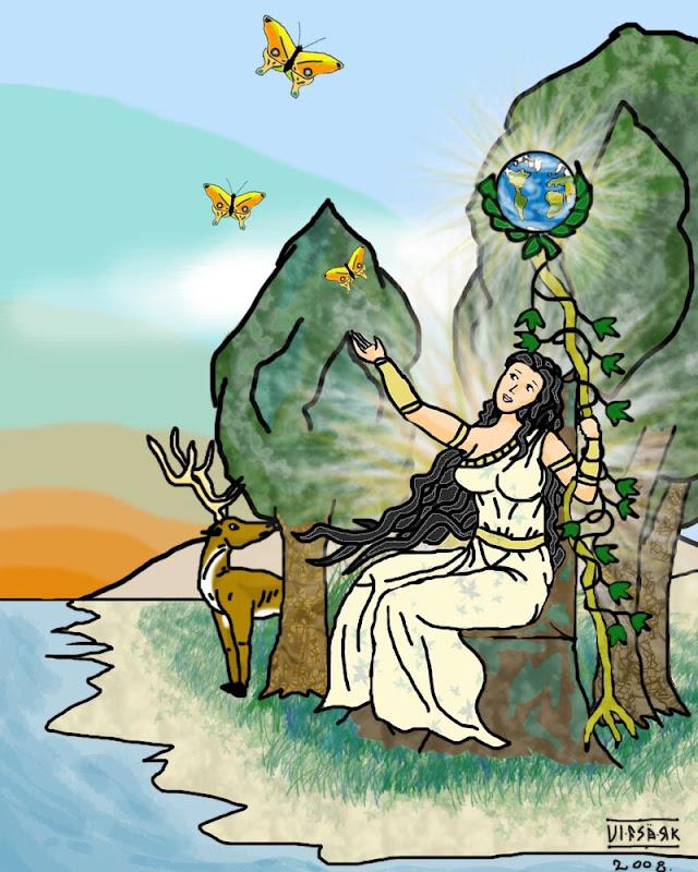 Madre Tierra . Dibujo: Ulfsark (Deviantart).
