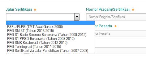 pemilihan jalur sertifikasi pada verval NRG, beda PPG dalam Jabatan dan PPG pra Jabatan.