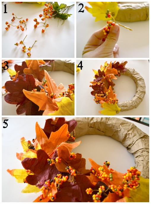 The Paper Lunch Bag Wreath from Kim at Bugaboo, Mini, Mr, and Me. Part of the Fall In Love With Fall Series at Hi! It's Jilly