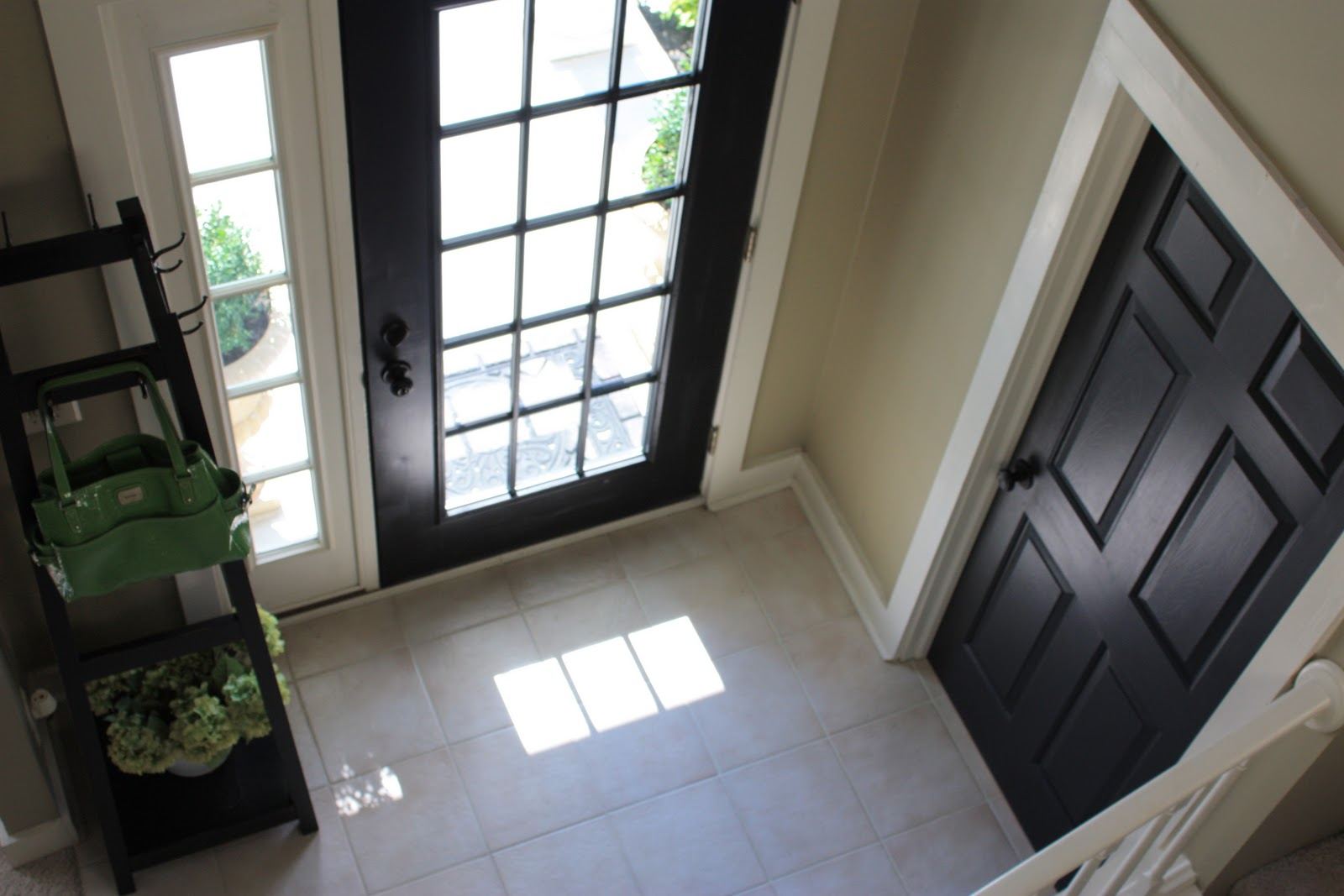 Black doors with white trim - 31 Days Of Character Building Simple Builder Door Upgrade