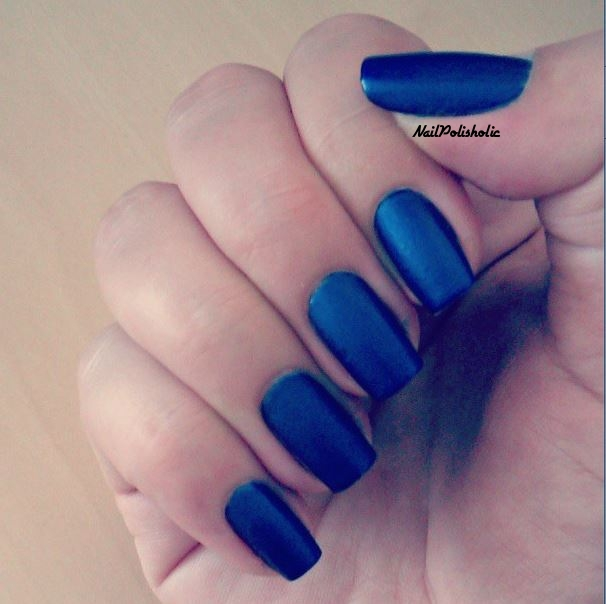 I Really Like The Matte Trend In Nails Tried It With Red White Orange Now Was Time For Blue