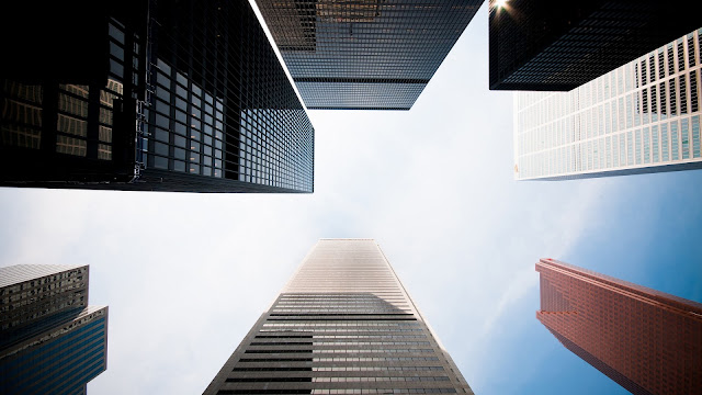 Skyscrapers Look Up HD Wallpaper