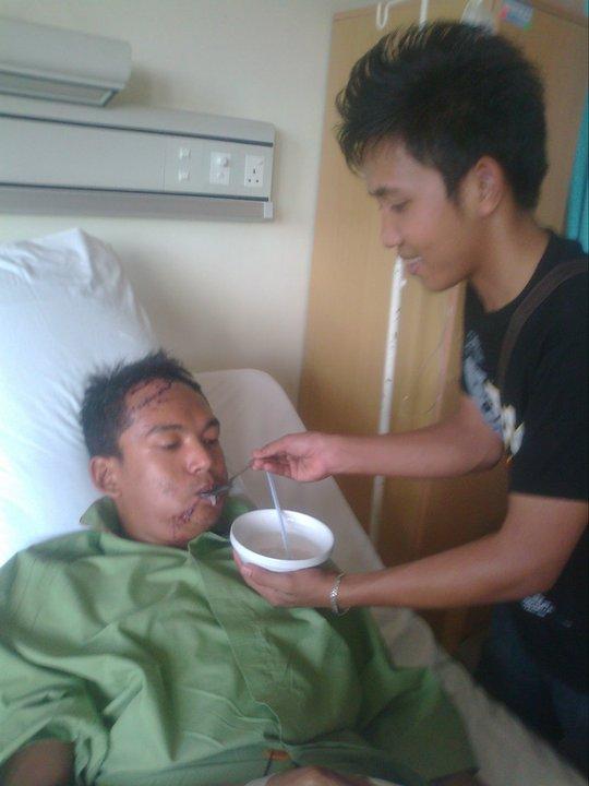 kenangan bersama kawan di hspital