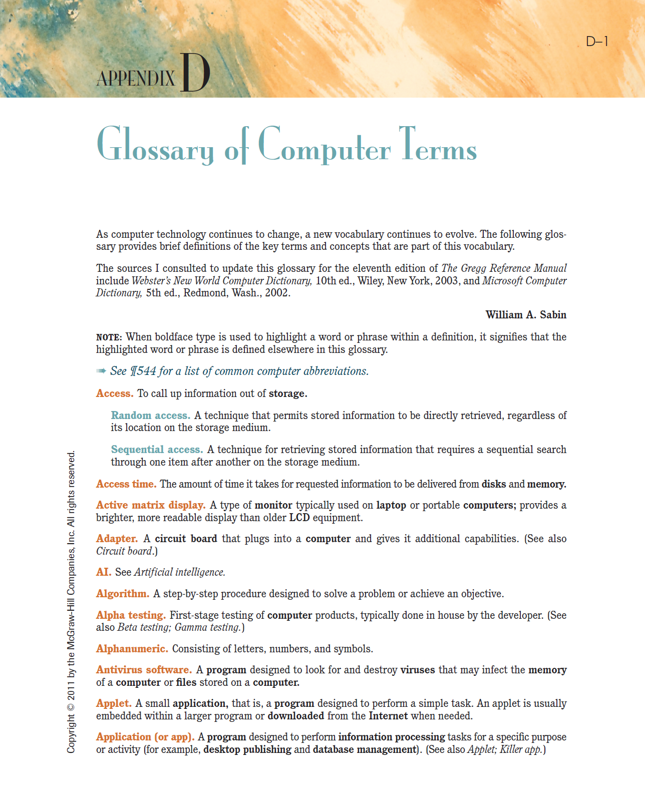 Glossary of Computer terms - Download PDF