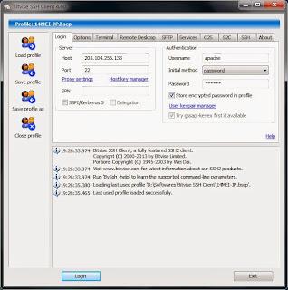 Download Software Bitvise SSH Client v4.06