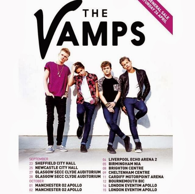 The Vamps Official Headline UK Tour 2014