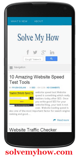 mobile website speed test