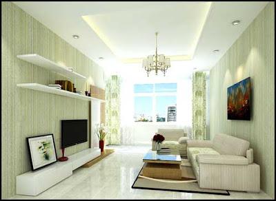 Phòng khách rộng thoáng, bộ Sopha tạo điểm nhất dễ chịu