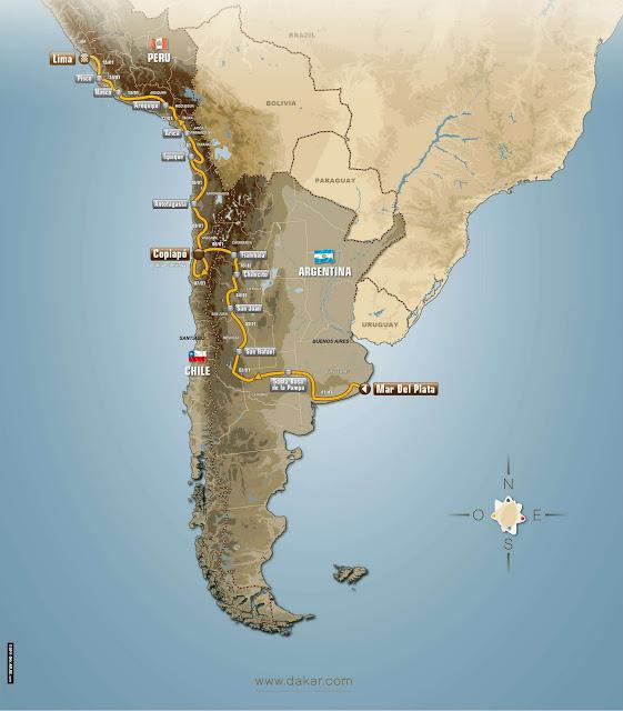 Rally/Raid Dakar 2012 - recorrido