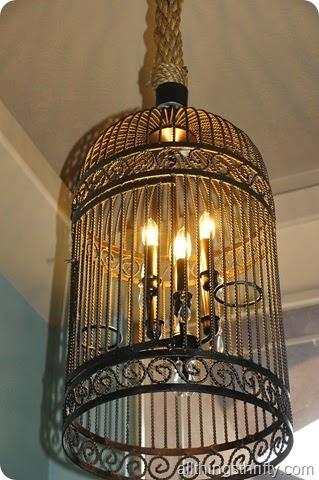 Birdcage light fixture
