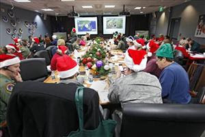 michelle obama helps norad break santa tracker christmas eve record