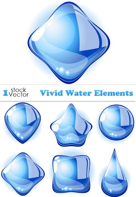 Vector Stock - Vivid Water Elements