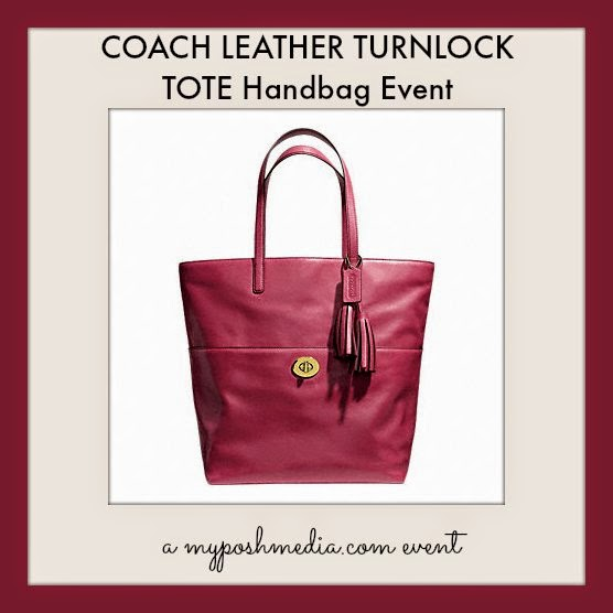 Coach Leather Turnlock Tote Giveaway