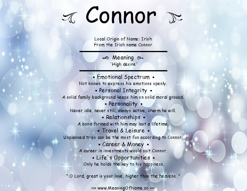 Connor - Meaning of Name