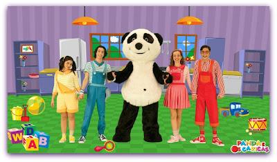 """Imagem do grupo musical """"Os Caricas"""" que canta músicas infantis no canal Panda"""