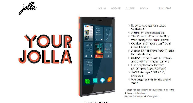 Jolla-Sailfish smart mobile OS