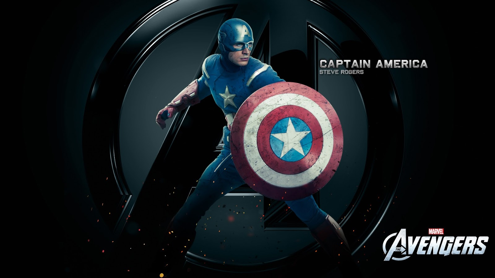 Captain America Chris Evans in Movie Avengers Wallpaper HD