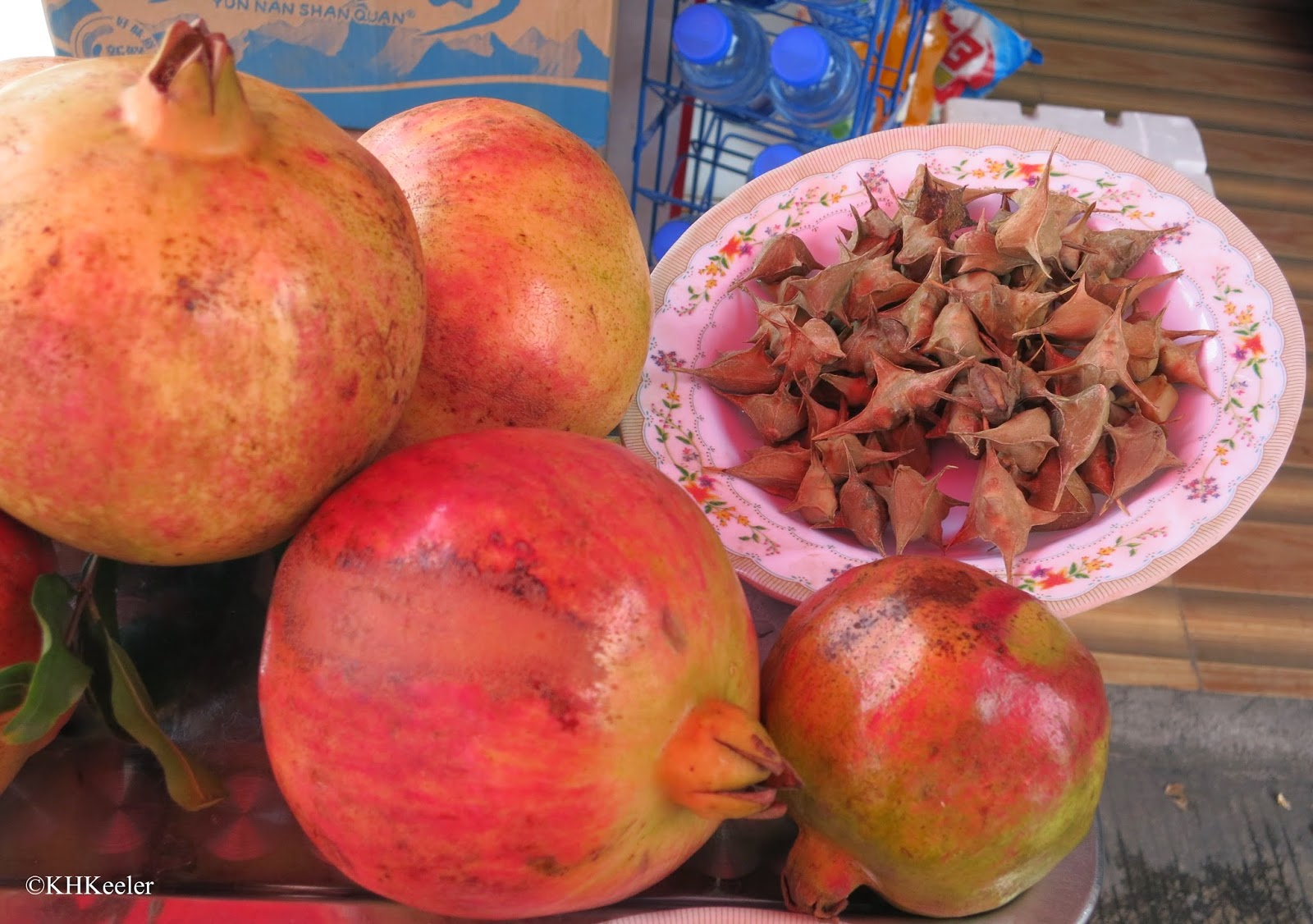 pomegranate and water caltrops