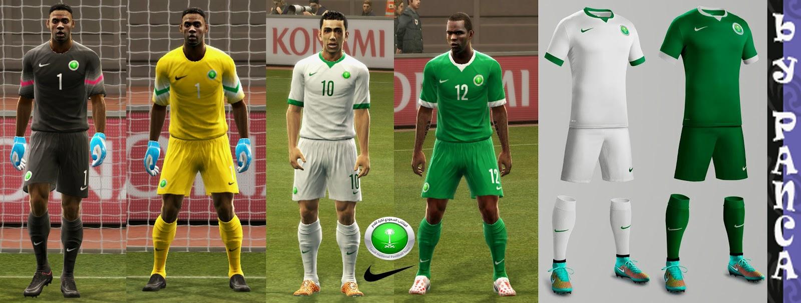 PES 2013: Saudi Arabia Kits New 2014 GDB Full by panca