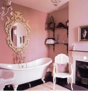 baños color rosa