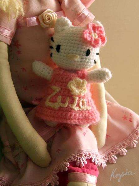 mała szydełkowa Hello Kitty