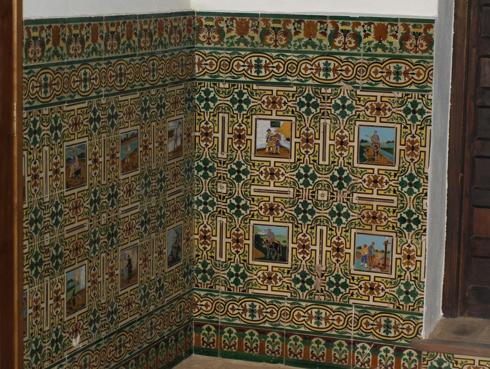 Sevilla daily photo azulejos en el zagu n - Azulejos patio andaluz ...