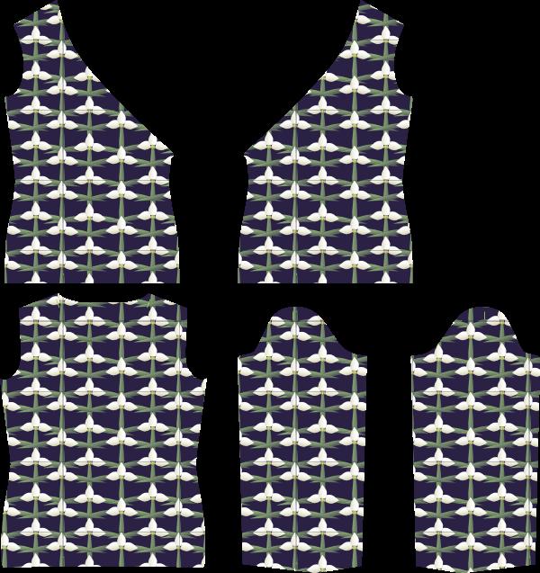 ... Kostenlose Nähanleitung und Schnittmuster für ein Damen Wickelshirt