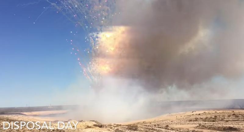 Atomlabor Blog - Wie es aussieht wenn 9 Tonnen Feuerwerkskörper vernichtet werden | Disposal Day