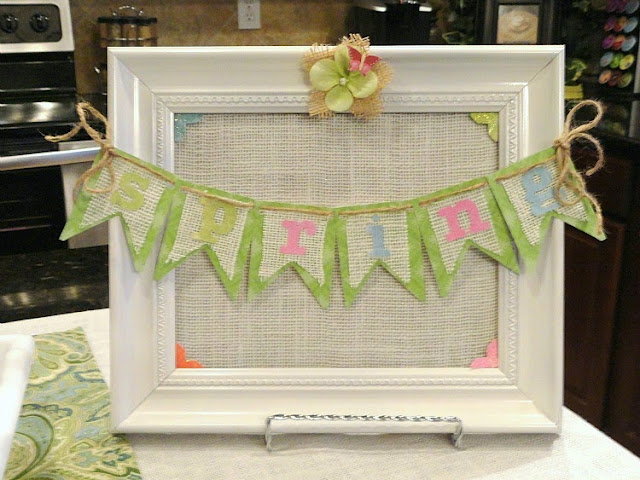 burlap spring diy picture wall art