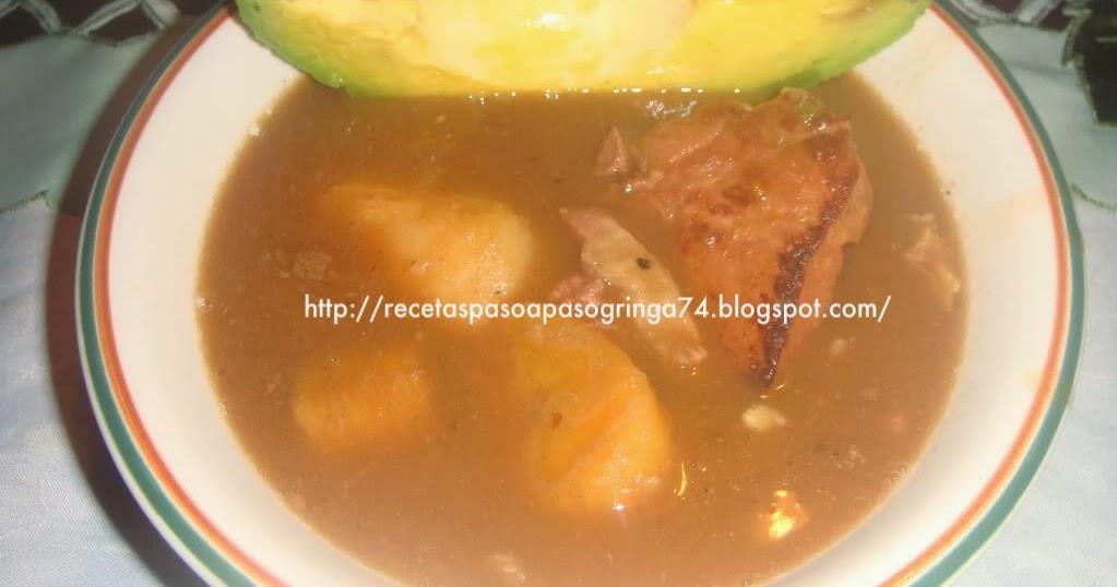 Mis paso a paso de recetas sancocho de habichuelas for Chambre de guandules dominicano