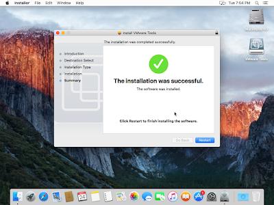Installasi VMware Tools OS X El Capitan