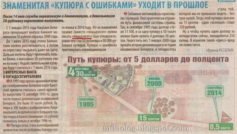 Статья про купюру 50 бел. руб.
