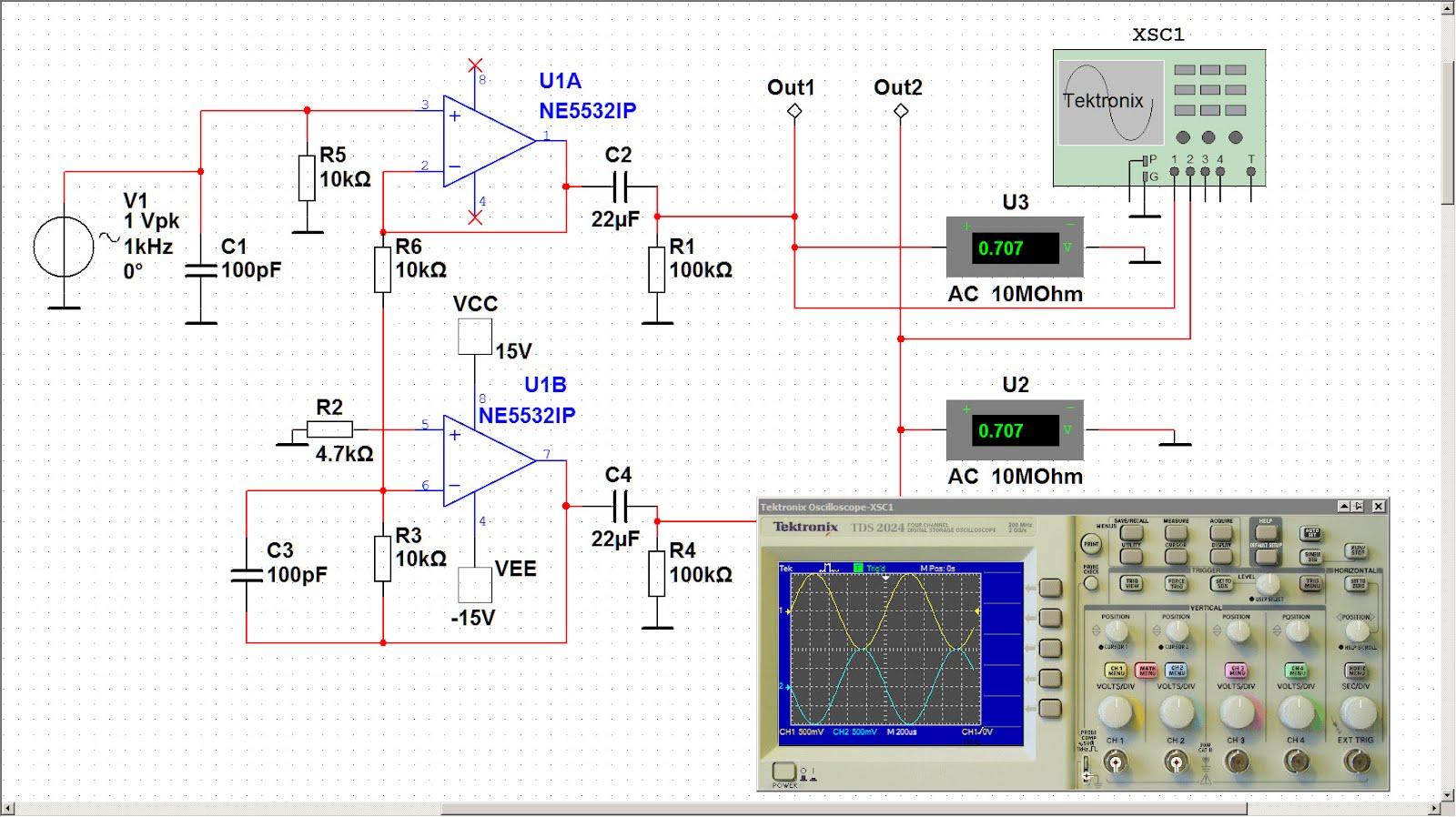 Custom Pcb For Diy Electronics Simulation Of Unbalanced Balanced