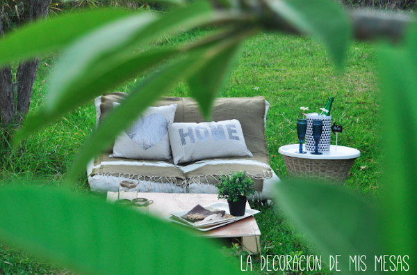 Un peque o chill out en el jard n decoraci n - Chill out jardin ...