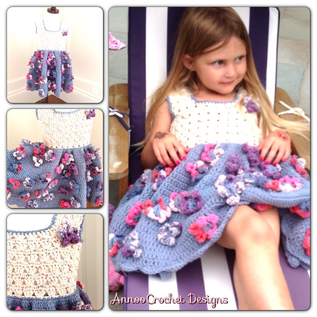 Annoo\'s Crochet World: Field Of Flower Summer Toddler Dress Free Pattern
